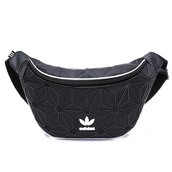 ADIDAS Tide brand men and women models diamond chest bag sports pockets wild small backpack Black
