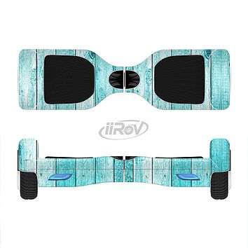 The Trendy Blue Abstract Wood Planks Full-Body Skin Set for the Smart Drifting SuperCharged iiRov HoverBoard