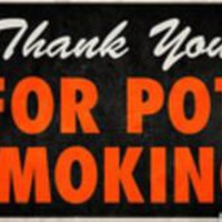 """Thank You For Pot Smoking"" Weed Humor - Posters.com"