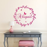Name Personalized Wall Decal Rustic Nursery Decal Name Vinyl Decal Girl Name Wall Decal Rustic Wall Decal Girl Nursery Decal SN31