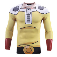 NEW Saitama One Punch Man Long Sleeve Compression Shirt