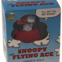 Lot of 2 Peanuts Snoopy Flying Ace Charles Schulz Book Doghouse Stocking Stuffer