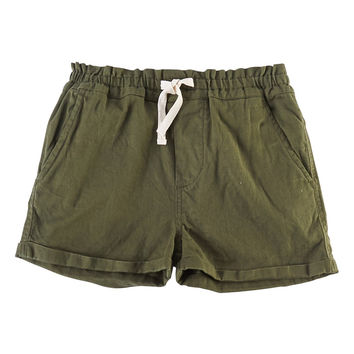 'Erin' Roll Cuff Shorts (Toddler Girls, Little Girls & Big Girls)