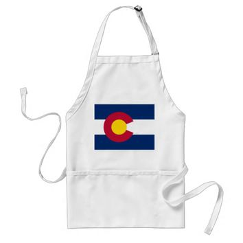 Apron with Flag of Colorado State, U.S.A.