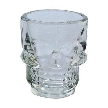 DINIWELL Transparent Crystal Skull Head Glass Cup For Whiskey Wine Bar Club Beer Wine Glass Bar Accessories