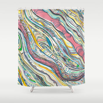 Aztec pattern Shower Curtain by Turn North Press | Society6