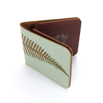 Leather Wallet - Minimal Fern