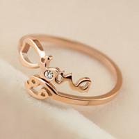 Womens Rose Gold Constellation Diamond Ring Adjustable Gift-126
