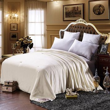 Mulberry beige Silk Comforter for Winter 200*230cm 150*200cm hme hotel Duvet Quilt Bedding Home textile pink antibacterial