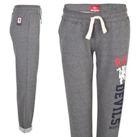 Manchester United Roll Up Joggers - Womens Grey