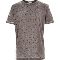 River Island Boys grey Japanese print t-shirt