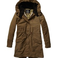 Iconic Peached Cotton Parka - Scotch & Soda