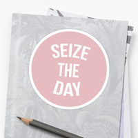 'Newsies Seize The Day Pink' Sticker by jbookout7