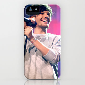 Louis Tomlinson Live - One Direction iPhone & iPod Case by Amara V