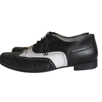Men Spectator Shoe Black and White Shoe Men Wingtip Shoe Men Shoe 14 Lace Up Oxford Men Oxford Shoe Swing Shoe Leather Sole Aris Allen