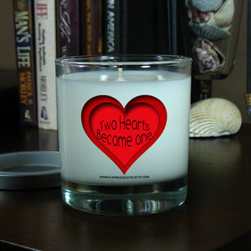 Soy Candle - Two Hearts Become One - Scented Candle - Romantic Gift Candle - I Love You Gift Candle