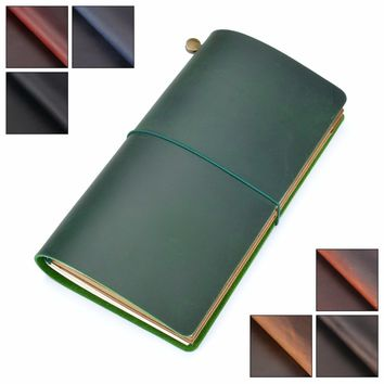 Moterm Genuine Leather Notebook Handmade Standard traveler notebook Cowhide vintage style journal spiral diary Free shipping