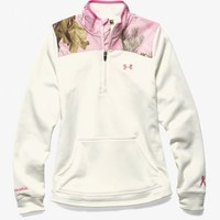 Under Armour Power in Pink 1/2 Zip Pullover