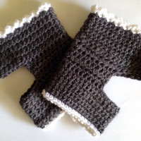 Hand Crocheted Yoga Socks with Lace Trim Made to Order
