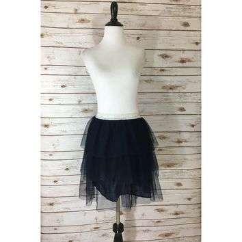 Pre-owned Gap Tulle Tiered Flippy Skirt Gap Skirt Gap Kids (Size XL)