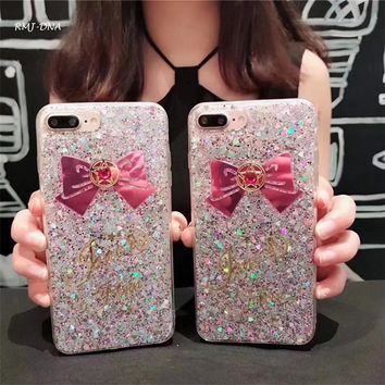 Phone Cases For iphone 8 8 plus Rainbow sequins tpu for iphone 7 6 6 s 7 Plus back cover Coke For Iphone 8 case