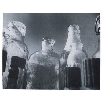 Black and White Photo of Antique Glass Bottles Puzzle