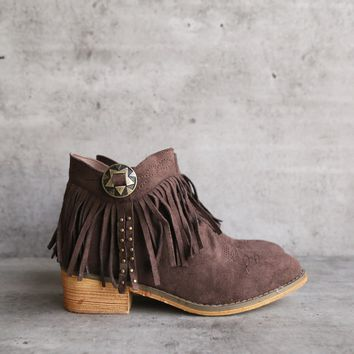 fringe boho ankle bootie - more colors