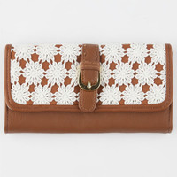 Daisy Crochet Wallet Cognac One Size For Women 25728340901