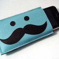 Moustache iPhone Cozy by yummypocket