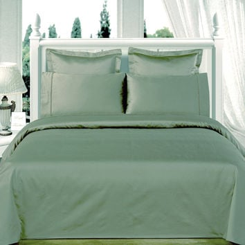 """Sage-Green 550TC Olympic Queen Solid Bed in A Bag 90x92"""" Egyptian cotton With Down Alternative Comforter"""