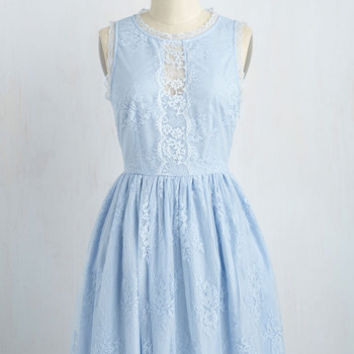 Urban and Auroral Dress in Powder Blue