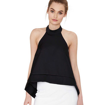 Halter Neck Backless Top