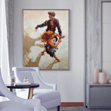 Portrait painting Flamenco Dance man and women oil Painting Wall art Pictures for living room Home Decor paints Hand painted wall decor