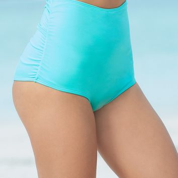 Aqua | High Waist Swimsuit Bottom