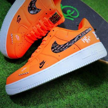 ONETOW Nike Air Force 1 Low Just Do It Orange AF1 Sport Shoes - Best Online Sale