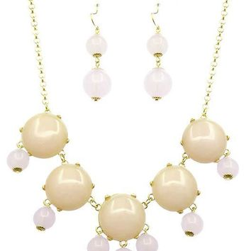 Homaica Stone Bubble Necklace Set