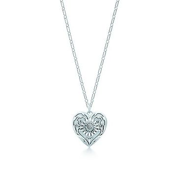 Tiffany & Co. -  Ziegfeld Collection daisy locket in sterling silver on a chain, medium.