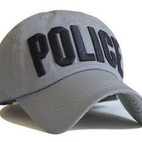 S Cloth Gray Police Officer Law Enforcement Cop Cotton Baseball Ball Cap Hat Caps Hats