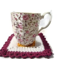 Handcrafted Crochet Coaster Set of Three 111