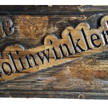 Personalized Carved Wooden Signs | Cabin Signs | Lake House Signs | ManCave Signs | Custom Wood Sign