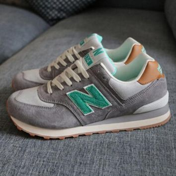 New balance abric is breathable n leisure sports Couples forrest gump running Khaki-3