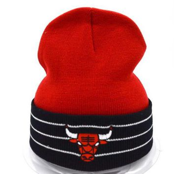 Chicago bulls Women Men Embroidery Beanies Knit Hat Cap-14