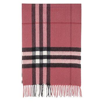 Burberry Women's Giant Check Scarf Pink