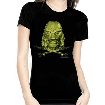 Creature From The Black Lagoon Glow In The Dark Women's Tee