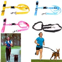 Running Dog Leash Hands Free Great for Walking dog leash Running leash Rope Jogging dog collars lead