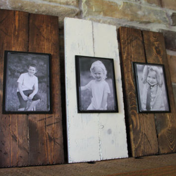 Rustic Picture Frame Set - Wood Picture Frame - Rustic Picture Frame  - Rustic Wood Frame -  Mantle Decor - Picture Frame Set - Wood Frame