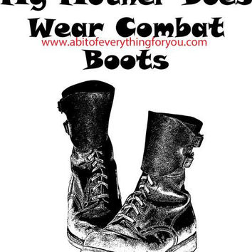 mother combat boots military art printable clipart png download digital image graphics black and white artwork