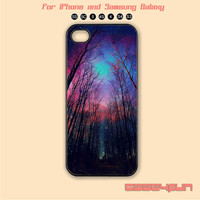 The woods,Stars,iPhone 5 case, iPhone 5C Case, iPhone 5S , Phone case,iPhone 4 Case, iPhone 4S Case,Samsung Galaxy S3, S4