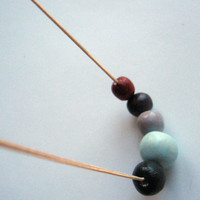 "Geometric round beads necklace- handmade beads necklace- colorful necklace"" Naturalis"""
