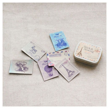 Dailylike Stick and Sewing leather label sticker set - atelier
